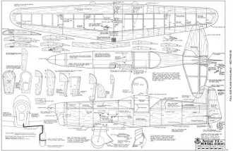 Percival P-6 Mew Gull model airplane plan