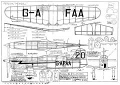 Percival Mewgull Japanese model airplane plan