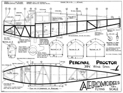 Percival Proctor model airplane plan