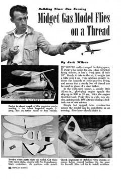 Perky model airplane plan