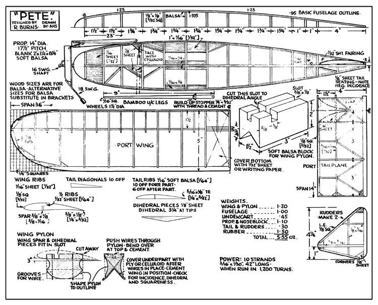 Pete model airplane plan
