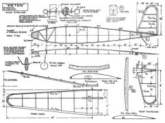 Peter 20in model airplane plan