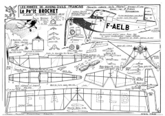 Petit Brochet model airplane plan