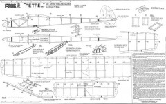 Petrel plan model airplane plan