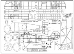 Pfalz Triplane model airplane plan