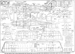Pfalz D3 model airplane plan