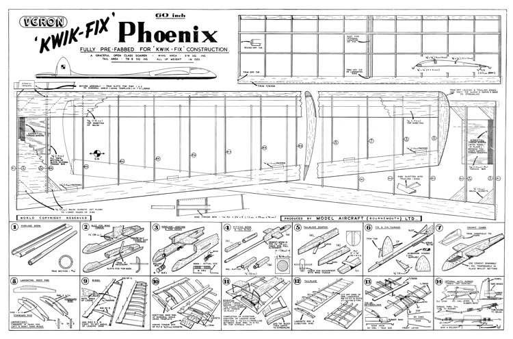 Phoenix 60in model airplane plan