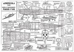 Piaggio P149 model airplane plan