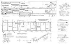 Piccolo Glider model airplane plan