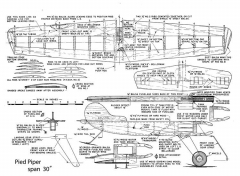 Pied Piper model airplane plan
