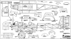 Pietenpol Aircamper 84in model airplane plan