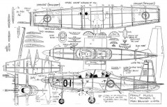 Pilatus PC-9 model airplane plan