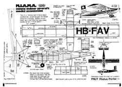 Pilatus Porter model airplane plan