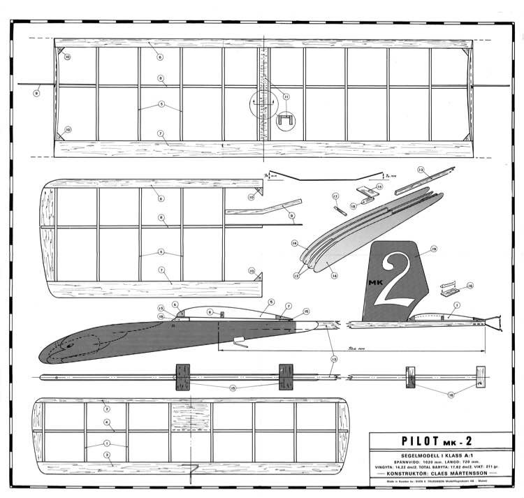 Pilot MK II model airplane plan
