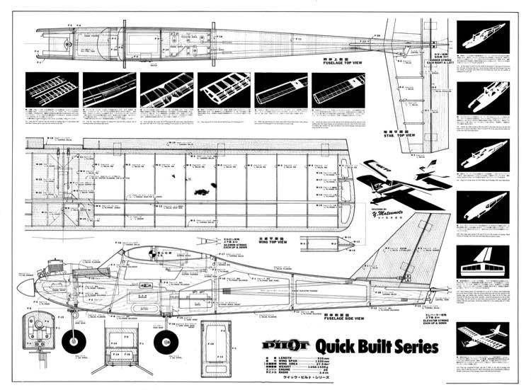 Pilot QB 20 h model airplane plan
