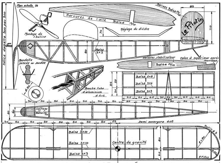 Pilotin model airplane plan