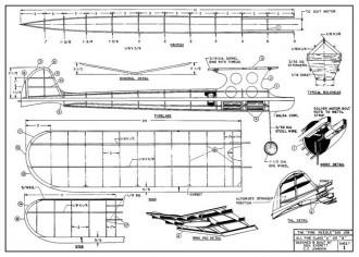 Pine Needle model airplane plan
