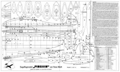 Pinguin model airplane plan