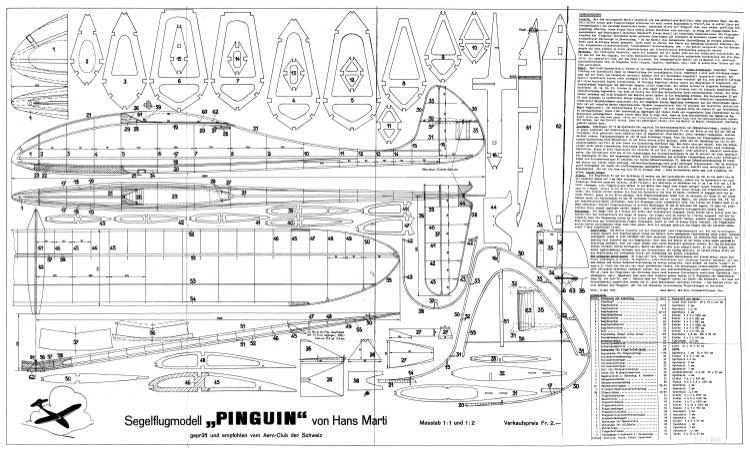 Pinguin model airplane plan