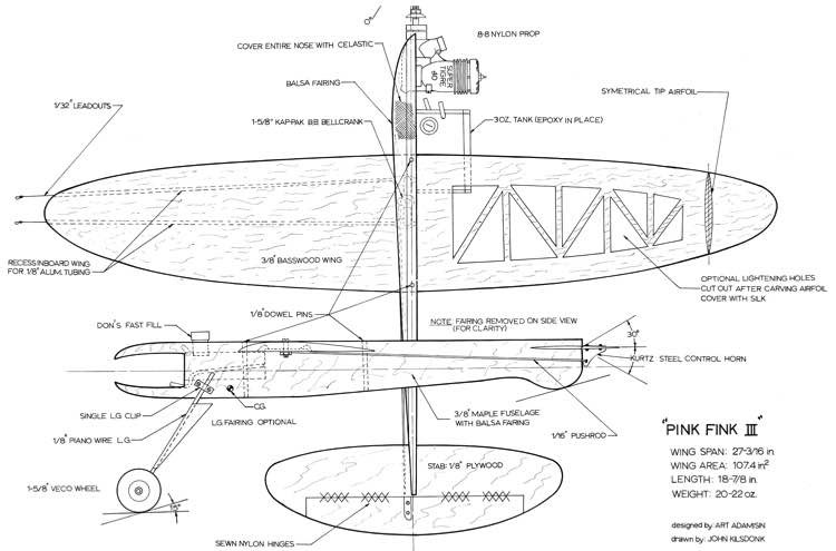 Pink Fink III model airplane plan