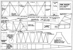 Pink Panter model airplane plan
