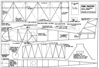 Pink Panter model airplane plan