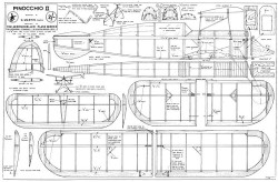 Pinocchio II model airplane plan