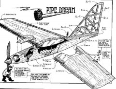 Pipe model airplane plan