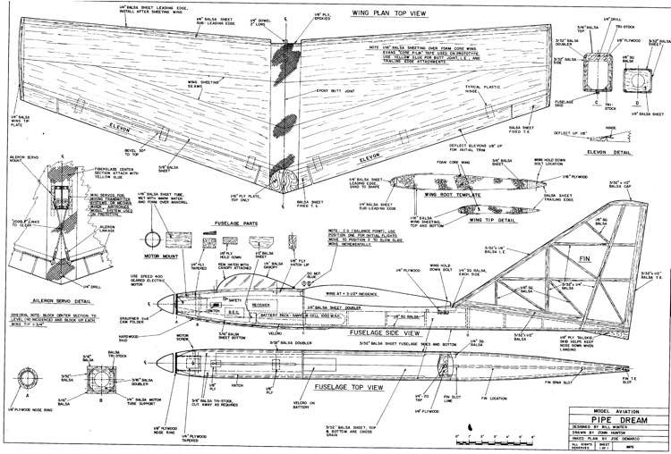 Pipe Dream model airplane plan