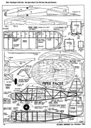 PiperPacer model airplane plan