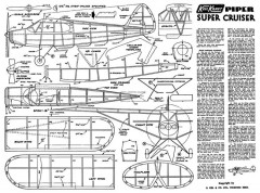 Piper Super Cruiser model airplane plan