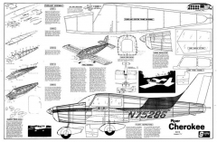 Piper Cherokee model airplane plan