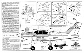 Piper Comanche model airplane plan