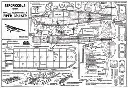 Piper Cruiser model airplane plan