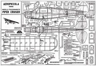 Piper Cruiser model airplane plan