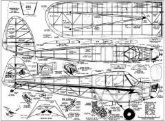 Piper Cub 70in model airplane plan