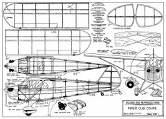 Piper Cub Coupe 28in model airplane plan