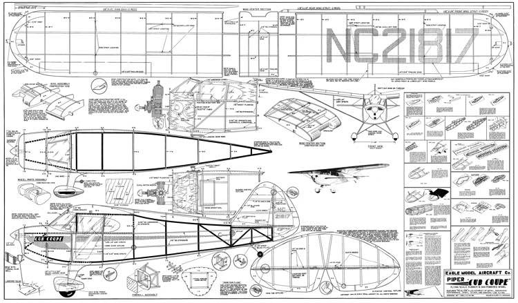 Piper Cub Coupe 40in model airplane plan