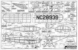 Piper Cub Cruiser J5 model airplane plan