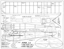Piper J3 Cub model airplane plan