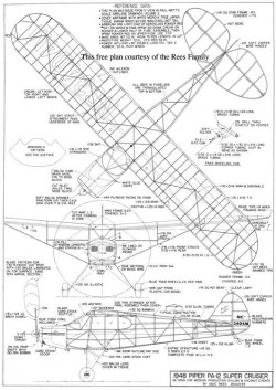 Piper PA-12 model airplane plan