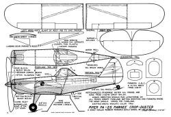 Piper PA-25 Pawnee model airplane plan
