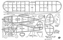 Piper Pa22-108 Colt model airplane plan