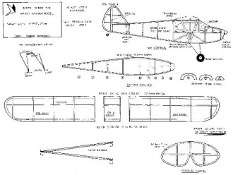 Piper Super Cub model airplane plan
