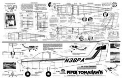 Piper Tomahawk model airplane plan