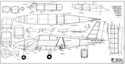 Piper Twin Comanche RCM-409 model airplane plan