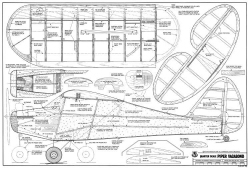 Piper Vagabond 74in model airplane plan