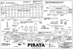 Pirata CL model airplane plan