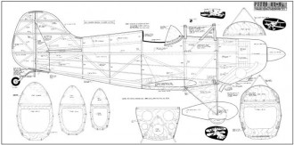 Pitts S1-S model airplane plan