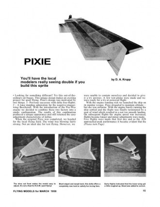 Pixie model airplane plan